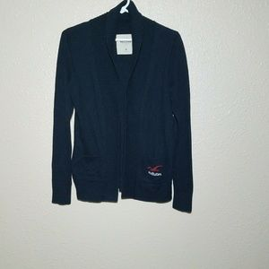Hollister Cardigan Sweater M Open Duster Navy L/S